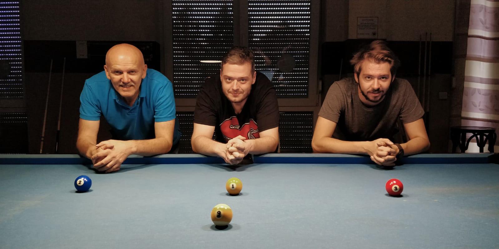 Michael Milosevic (Platz 2), Markus Schwarz (Platz 1) und Joscha Zirkelbach (Platz 3)