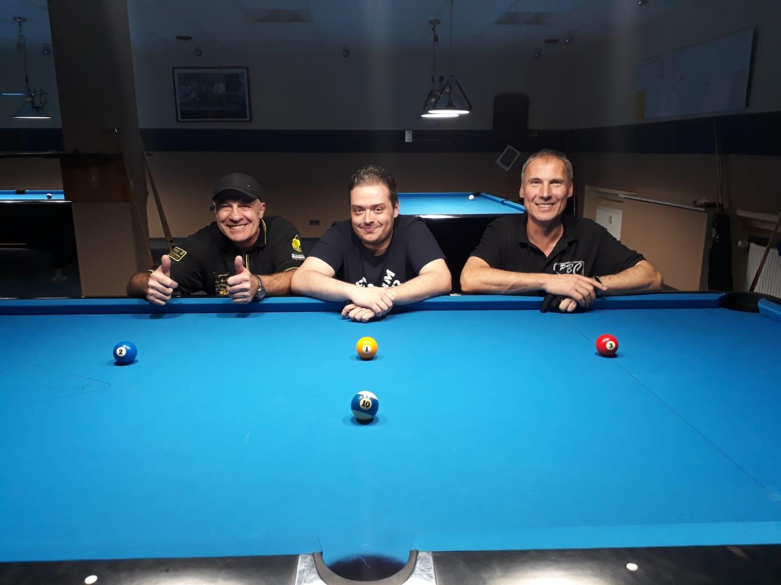 Ibrahim Dzino (Platz 2), Markus Schwarz (Platz 1) undMario Zorn (Platz 3)