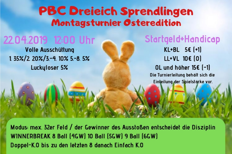 IOP Montagsturnier – Oster Edition 2019