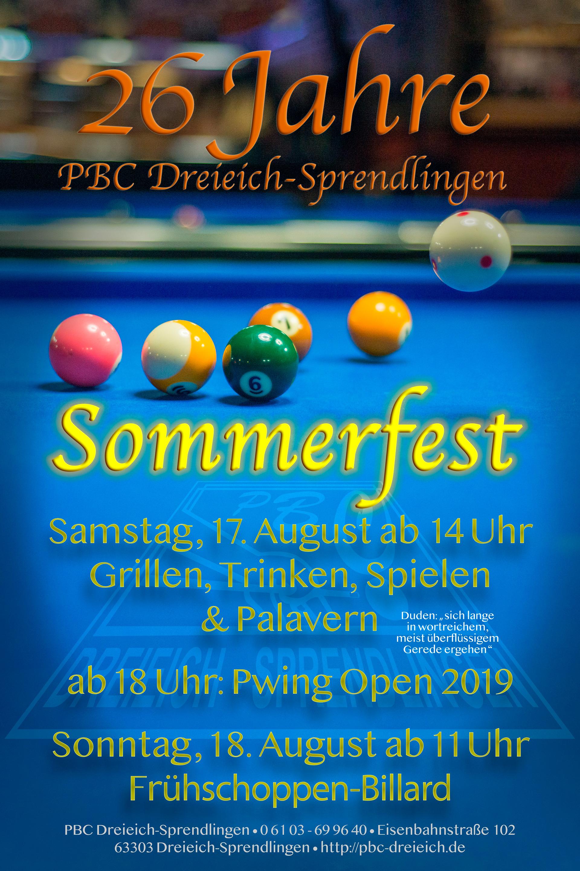 Sommerfest im PBC Dreieich