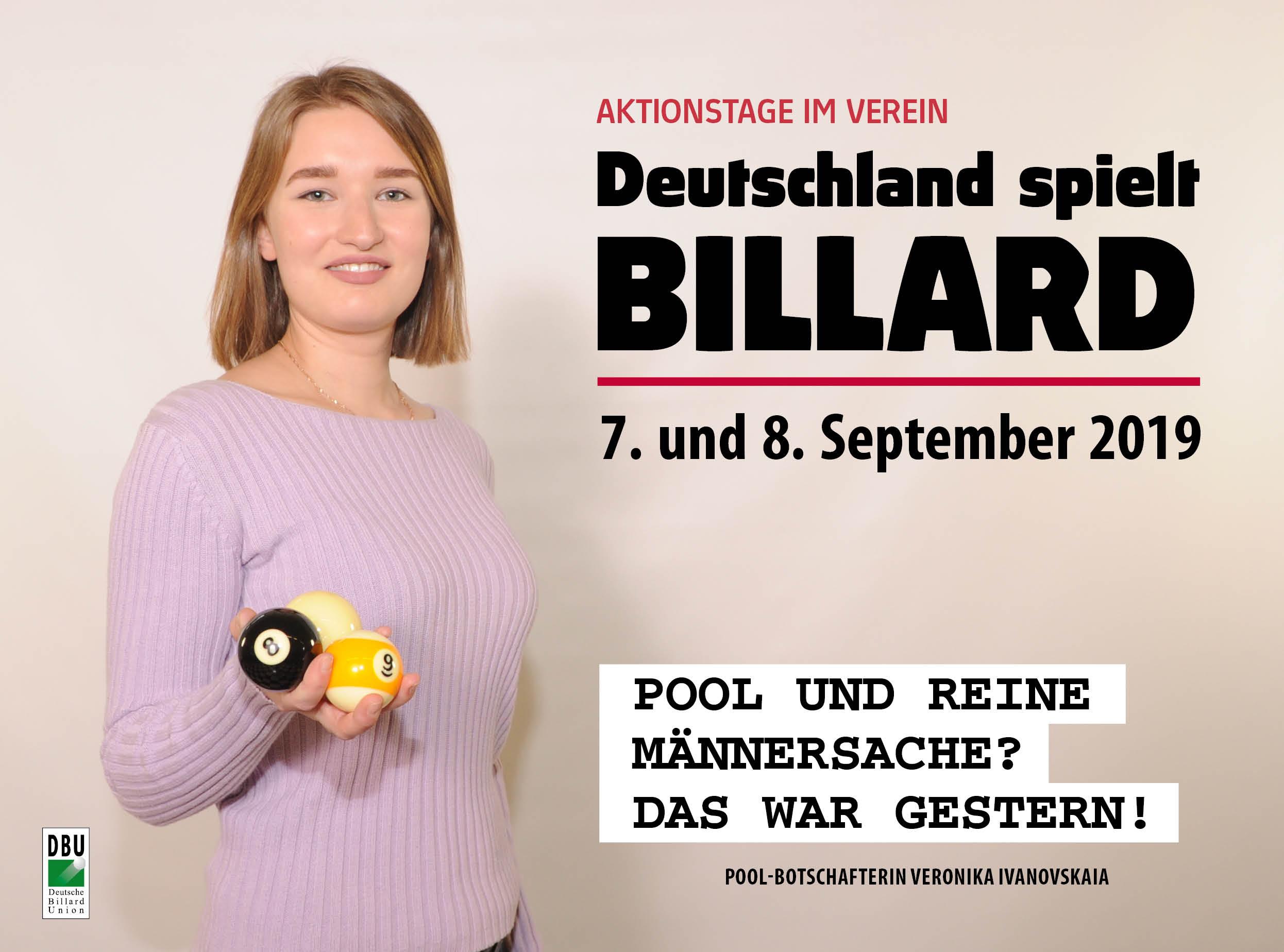 Deutschland spielt Billard 2019