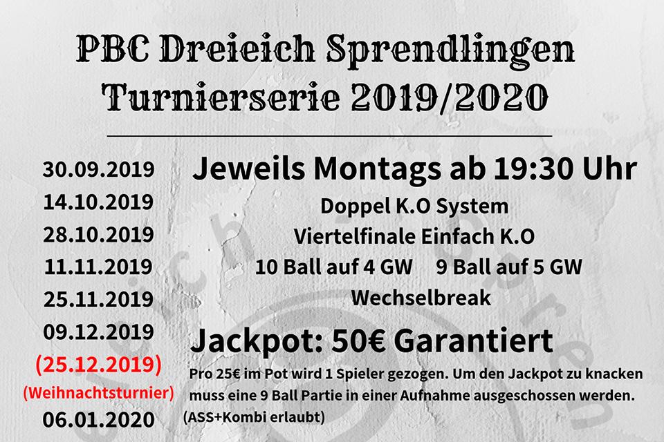 Infinity of Pool Turnierserie 2019/20 (Montagsturnier)